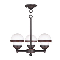 Livex 5703-67 Oldwick 3 Light 18 inch Olde Bronze Chandelier Ceiling Light