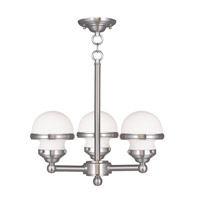 Livex Lighting Oldwick 3 Light Chandelier in Brushed Nickel 5703-91