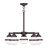 Livex 5705-67 Oldwick 5 Light 25 inch Olde Bronze Chandelier Ceiling Light