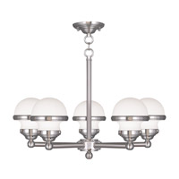Livex 5705-91 Oldwick 5 Light 25 inch Brushed Nickel Chandelier Ceiling Light