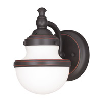 Livex Lighting Oldwick 1 Light Bath Wall Sconce in Olde Bronze 5711-67