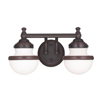 Livex Lighting Oldwick 2 Light Bath Light in Olde Bronze 5712-67
