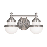 Livex 5712-91 Oldwick 2 Light 15 inch Brushed Nickel Bath Light Wall Light
