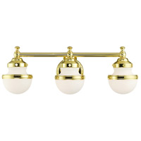 Livex 5713-02 Oldwick 3 Light 24 inch Polished Brass Vanity Sconce Wall Light
