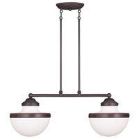 Livex 5717-67 Oldwick 2 Light 30 inch Olde Bronze Island Light Ceiling Light