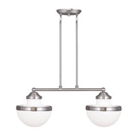 Livex 5717-91 Oldwick 2 Light 30 inch Brushed Nickel Island Light Ceiling Light