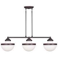 Livex Lighting Oldwick 3 Light Island Light in Olde Bronze 5718-67