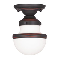 Livex Lighting Oldwick 1 Light Ceiling Mount in Olde Bronze 5720-67