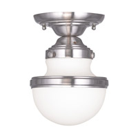 Livex Lighting Oldwick 1 Light Ceiling Mount in Brushed Nickel 5720-91