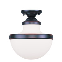Livex Lighting Oldwick 1 Light Ceiling Mount in Olde Bronze 5722-67