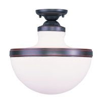Livex Lighting Oldwick 1 Light Ceiling Mount in Olde Bronze 5723-67