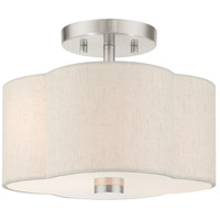 Brushed Nickel Solstice Semi-Flush Mounts