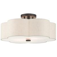 Livex 58064-92 Solstice 3 Light 18 inch English Bronze Semi Flush Ceiling Light