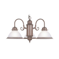 Livex Lighting Home Basics 3 Light Chandelier in Weathered Brick 5992-18