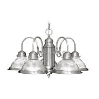 Livex Lighting Home Basics 5 Light Chandelier in Brushed Nickel 6002-91