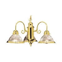 Livex Lighting Home Basics 3 Light Chandelier in Polished Brass 6003-02 photo thumbnail