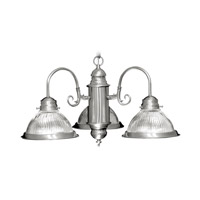 Home Basics 3 Light 22 inch Brushed Nickel Chandelier Ceiling Light