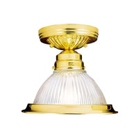 Home Basics 1 Light 8 inch Polished Brass Ceiling Mount Ceiling Light