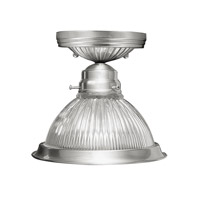 Livex Lighting Home Basics 1 Light Ceiling Mount in Brushed Nickel 6006-91