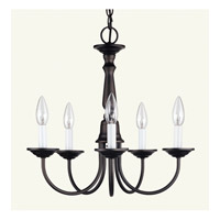 Livex Lighting Home Basics 5 Light Chandelier in Bronze 6030-07