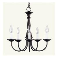 Livex 6030-07 Home Basics 5 Light 18 inch Bronze Chandelier Ceiling Light