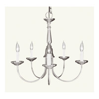Livex Lighting Home Basics 5 Light Chandelier in Brushed Nickel 6030-91