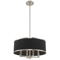 Livex 60404-91 Park Ridge 4 Light 18 inch Brushed Nickel Pendant Chandelier Ceiling Light alternative photo thumbnail