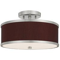 Livex 60412-91 Park Ridge 2 Light 13 inch Brushed Nickel Flush Mount Ceiling Light