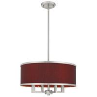 Livex 60414-91 Park Ridge 4 Light 18 inch Brushed Nickel Pendant Chandelier Ceiling Light