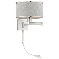 Livex 60429-91 Park Ridge 24 inch 100.00 watt Brushed Nickel Swing Arm Wall Lamp Wall Light