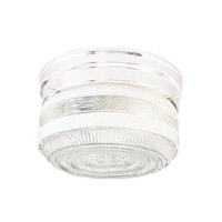 Signature 1 Light 7 inch White Flush Mount Ceiling Light