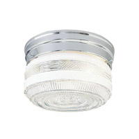 Livex Signature 1 Light Flush Mount in Polished Chrome 6076-05