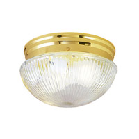 Livex Lighting Signature 1 Light Ceiling Mount in Polished Brass 6080-02
