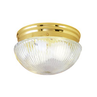 Livex Signature 2 Light Flush Mount in Polished Brass 6081-02