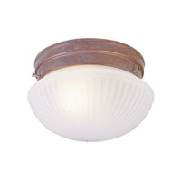 Livex Signature 1 Light Flush Mount in Weathered Brick 6090-18
