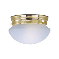 Signature 2 Light 10 inch Polished Brass Flush Mount Ceiling Light