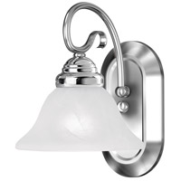 Livex 6101-05 Coronado 1 Light 8 inch Polished Chrome Bath Light Wall Light in White Alabaster