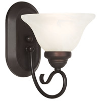 Livex 6101-07 Coronado 1 Light 8 inch Bronze Wall Sconce Wall Light