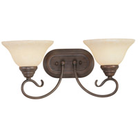 Coronado 2 Light 19 inch Imperial Bronze Bath Light Wall Light in Vintage Scavo