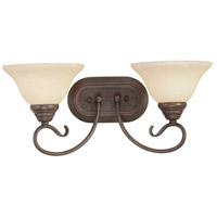 Livex 6102-58 Coronado 2 Light 19 inch Imperial Bronze Bath Light Wall Light in Vintage Scavo
