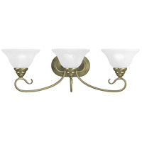 Livex Lighting Coronado 3 Light Bath Light in Antique Brass 6103-01