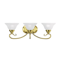 Livex Lighting Coronado 3 Light Bath Light in Polished Brass 6103-02
