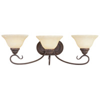 Coronado 3 Light 27 inch Imperial Bronze Bath Light Wall Light in Vintage Scavo