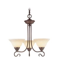 Livex Lighting Coronado 3 Light Chandelier in Imperial Bronze 6107-58 photo thumbnail