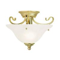 Livex Coronado 1 Light Flush Mount in Polished Brass 6109-02