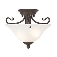 Coronado 1 Light 13 inch Bronze Flush Mount Ceiling Light in White Alabaster