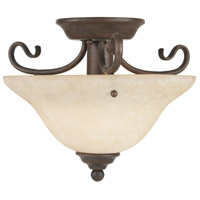 Livex Lighting Coronado 1 Light Ceiling Mount in Imperial Bronze 6109-58