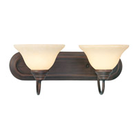 Livex 6112-58 Coronado 2 Light 18 inch Imperial Bronze Bath Light Wall Light in Vintage Scavo photo thumbnail