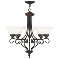 Coronado 5 Light 26 inch Bronze Chandelier Ceiling Light in White Alabaster