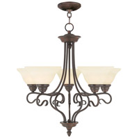 Livex 6115-58 Coronado 5 Light 26 inch Imperial Bronze Chandelier Ceiling Light in Vintage Scavo